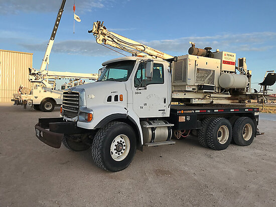 Terex/Reedrill 330, Pressure Digger mounted on 2008 Sterling L7500 T/A Flatbed Truck runs, drives &