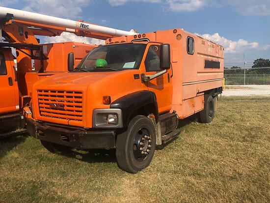 2005 GMC C6500 Chipper Dump Truck starts, runs, drives & operates