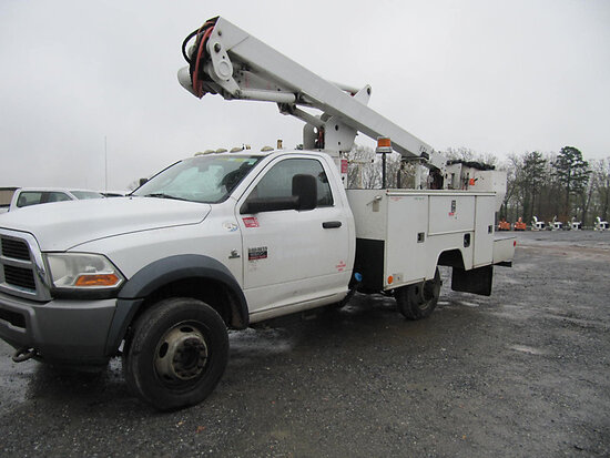 ETI ETC37-IH, Articulating & Telescopic Bucket Truck mounted behind cab on 2011 Dodge Ram D5500 Serv
