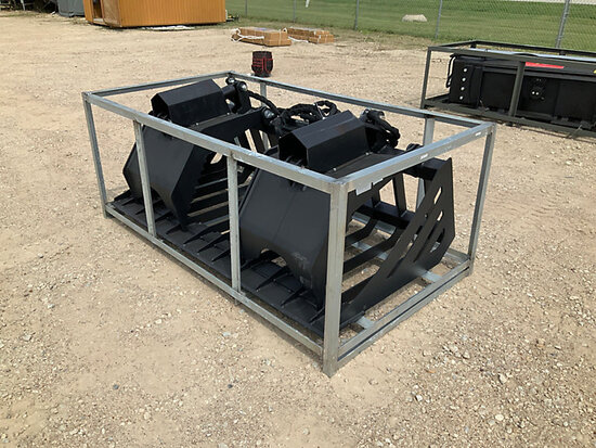 2020 SUIHE 72 in Skid Steer Hydraulic Rock Grapple Bucket (New/Unused) NOTE: This unit is being sold