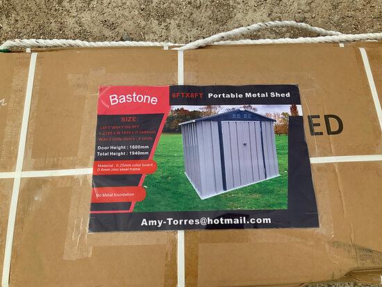 2020 Bastone 6 ft. x 8 ft. Metal Garden Shed with 2 doors