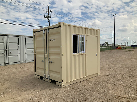 2020 9 ft L x 7 ft 2 in W x 8 ft 2 in H Container with door & window (New/Unused) NOTE: This unit is