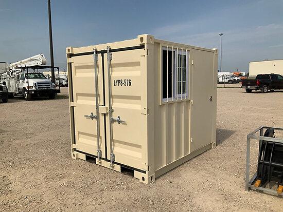 2020 8 ft L x 6 ft 5 in W x 7 ft 2 in H Steel Container with door & window (New/Unused) NOTE: This u