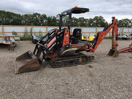 2009 Ditch Witch XT1600 Ride-On Crawler Excavator/Tool Carrier, To Be Sold with Lot# t1352 runs, dri