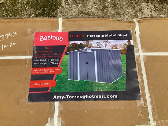2020 Bastone 8 ft. x 8 ft. Metal Garden Shed with 2 doors