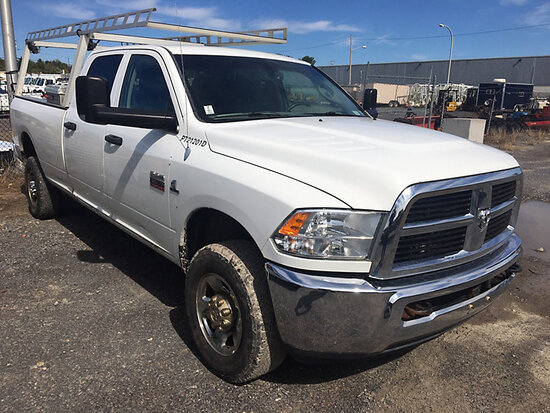 2012 Dodge W3500 4x4 Crew-Cab Pickup Truck Runs & Drives) (Tailgate Broken