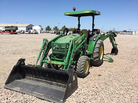 2014 John Deere 4044R MFWD Mini Tractor Loader Backhoe Runs & Operates