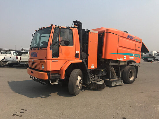 Elgin Crosswind Series G, Street Sweeper mounted on 2000 Sterling SC8000 Cab & Chassis Runs, Drives