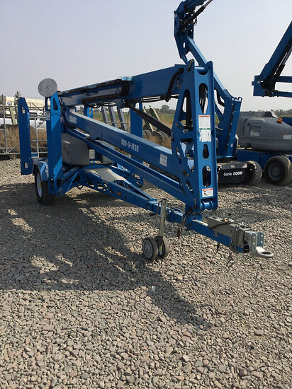 2016 Genie TZ-50 DC Towable Articulating & Telescopic Manlift, trailer mtd No Title