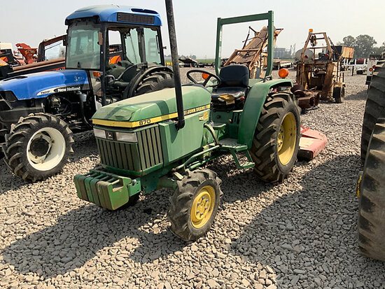 1990 John Deere 870 MFWD Utility Tractor Runs & Operates) (Fuel Shut-Off Not Working Properly