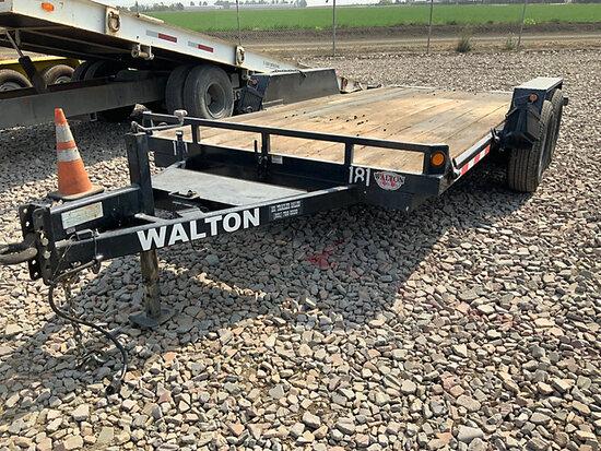 2011 Walton T/A Tilt Top Tagalong Trailer