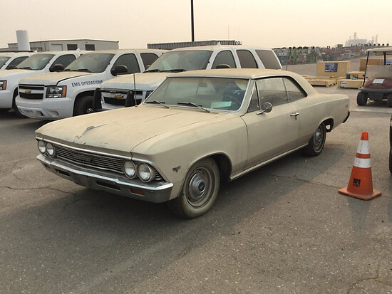 1966 Chevrolet Chevelle Malibu 2-Door Coupe Runs & Drives) (MILEAGE MAY NOT BE CORRECT) ( 30-Day Tit