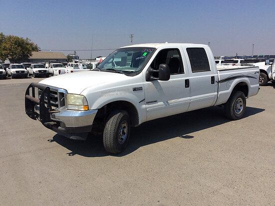 2002 Ford F250 4x4 Crew-Cab Pickup Truck Runs & Drives