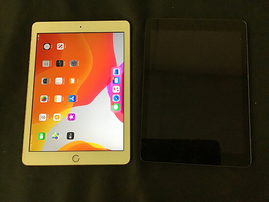 2 iPads   possibly locked   model A1893 and A1474 (Used ) NOTE: This unit is being sold AS IS/WHERE