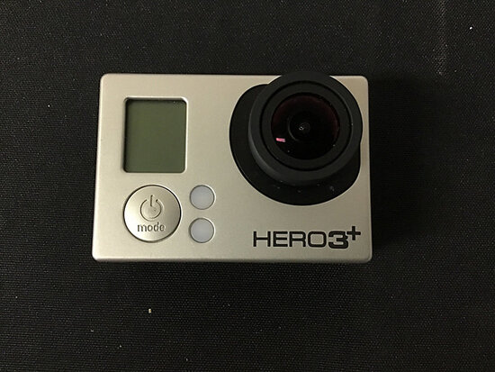 Go pro hero 3 plus   has battery no plugs (Used ) NOTE: This unit is being sold AS IS/WHERE IS via T
