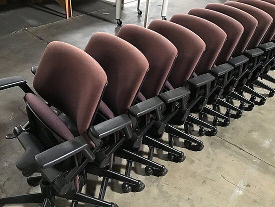 12 chairs (Used) NOTE: This unit is being sold AS IS/WHERE IS via Timed Auction and is located in El