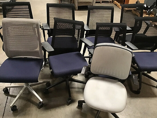 9 office chairs (Used) NOTE: This unit is being sold AS IS/WHERE IS via Timed Auction and is located