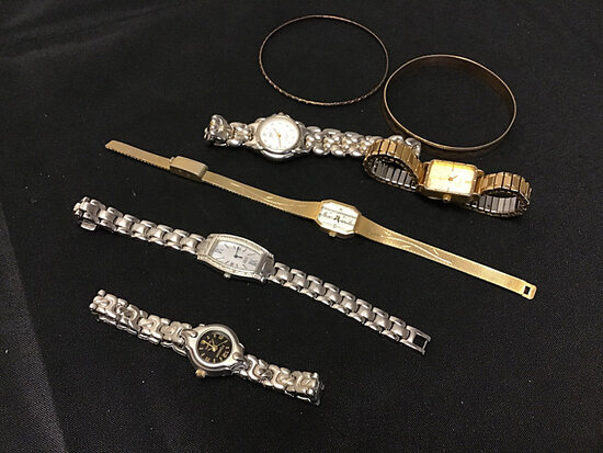 Assorted watches   bracelets (Used) NOTE: This unit is being sold AS IS/WHERE IS via Timed Auction a