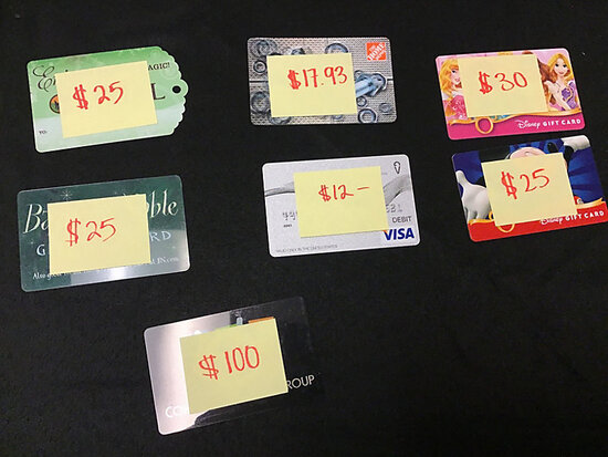 Gift cards (Used   unknown balance ) NOTE: This unit is being sold AS IS/WHERE IS via Timed Auction