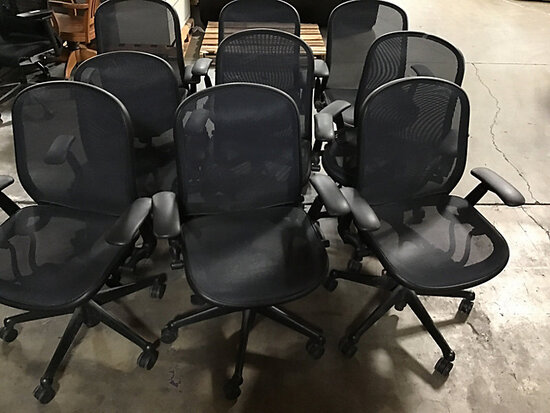 9 office chairs (Used ) NOTE: This unit is being sold AS IS/WHERE IS via Timed Auction and is locate