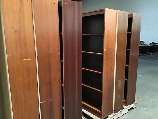 6 bookcases (Used) NOTE: This unit is being sold AS IS/WHERE IS via Timed Auction and is located in