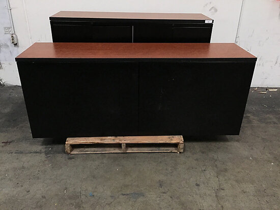 2 metal wood top cabinets (Used ) NOTE: This unit is being sold AS IS/WHERE IS via Timed Auction and