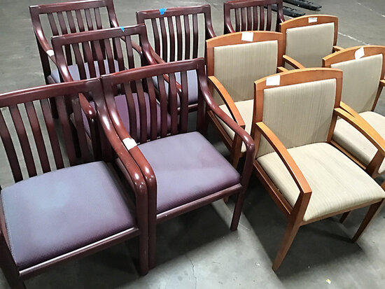10 chairs (Used) NOTE: This unit is being sold AS IS/WHERE IS via Timed Auction and is located in El