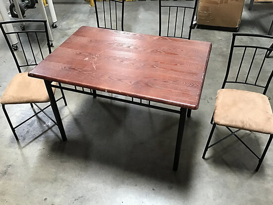 Table with chairs (Used) NOTE: This unit is being sold AS IS/WHERE IS via Timed Auction and is locat