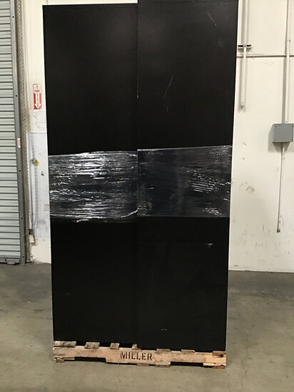 2 large metal cabinets (Used ) NOTE: This unit is being sold AS IS/WHERE IS via Timed Auction and is