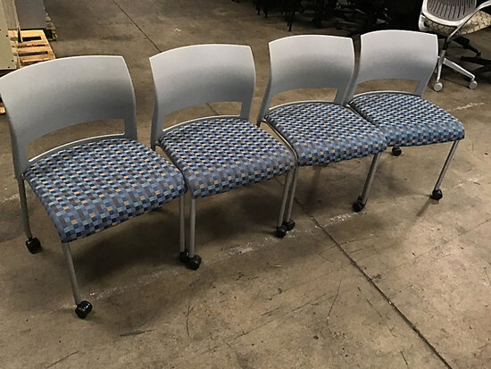 4 office chairs (Used) NOTE: This unit is being sold AS IS/WHERE IS via Timed Auction and is located