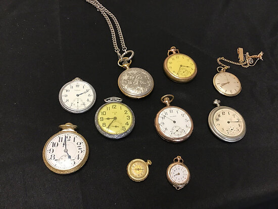 Pocket watches (Used) NOTE: This unit is being sold AS IS/WHERE IS via Timed Auction and is located
