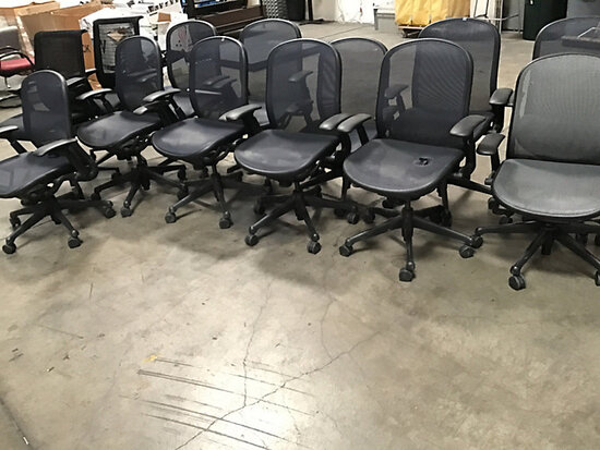 13 office chairs (Used) NOTE: This unit is being sold AS IS/WHERE IS via Timed Auction and is locate
