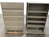 3 bookshelves | 2 file cabinets (Used) NOTE: This unit is being sold AS IS/WHERE IS via Timed Auctio