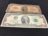 Two 2 dollars bills (Used ) NOTE: This unit is being sold AS IS/WHERE IS via Timed Auction and is lo