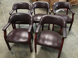 5 lobby chairs (Used) NOTE: This unit is being sold AS IS/WHERE IS via Timed Auction and is located