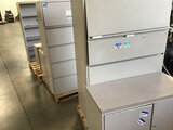 Assorted metal office furniture (Used) NOTE: This unit is being sold AS IS/WHERE IS via Timed Auctio