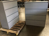 2 metal 4 drawers file cabinets (Used ) NOTE: This unit is being sold AS IS/WHERE IS via Timed Aucti