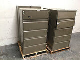 4 metal file cabinets (Used) NOTE: This unit is being sold AS IS/WHERE IS via Timed Auction and is l