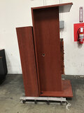 1 wood desk with hutch | 1 two drawers wood file cabinet (Used ) NOTE: This unit is being sold AS IS