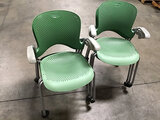 6 office chairs (Used) NOTE: This unit is being sold AS IS/WHERE IS via Timed Auction and is located