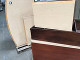 L shaped desk with hutch | file cabinets (Used) NOTE: This unit is being sold AS IS/WHERE IS via Tim