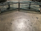 2 metal glass top TV stands (Used ) NOTE: This unit is being sold AS IS/WHERE IS via Timed Auction a
