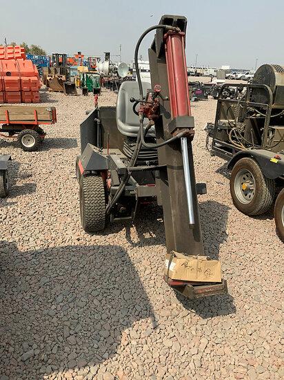Shopmade Log Splitter mounted on Toro Tractor Runs & Operates