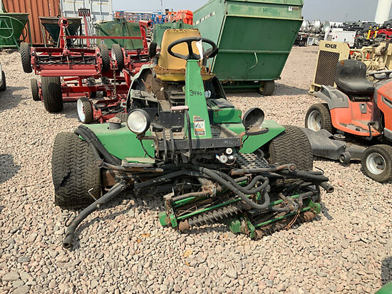 John Deere 3215B Riding Reel Mower Missing Parts, Not Running, Condition Unknown