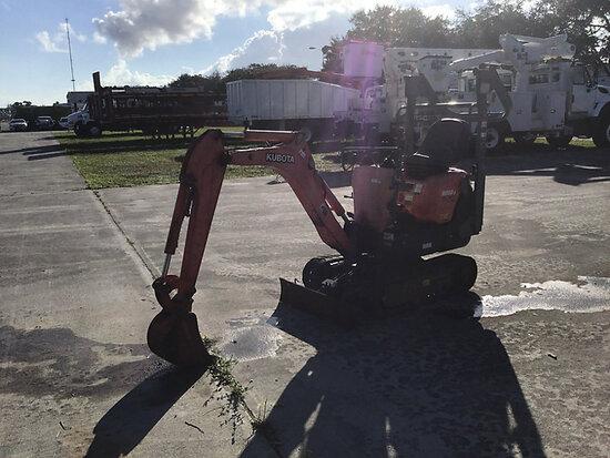 2013 Kubota K008-3 Mini Hydraulic Excavator Runs & Operates