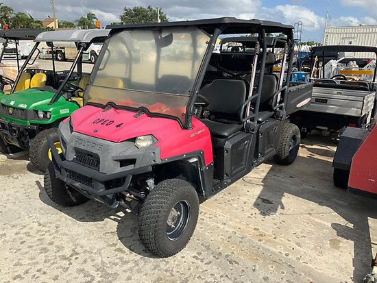 Polaris Ranger 800EFI Crew Cab Utility Cart Runs & Operates) (Reads 4195 Miles