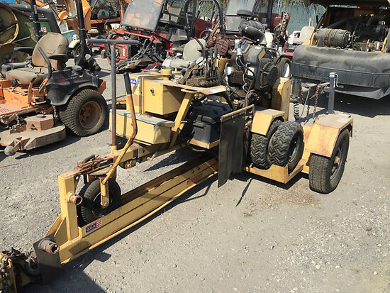 1998 Rayco RG1625 Rubber Tired Walk-Beside Stump Cutter No key, runs and operates