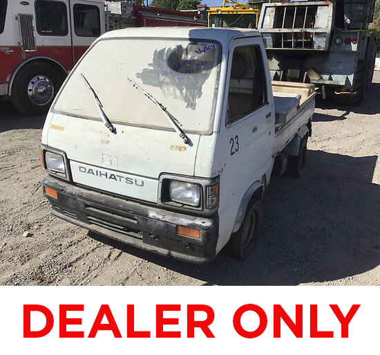1986 Daihatsu HI-JET S-80LP Utility Cart DEALER ONLY! NO RETAIL BUYERS! Liensale Documents, No key,