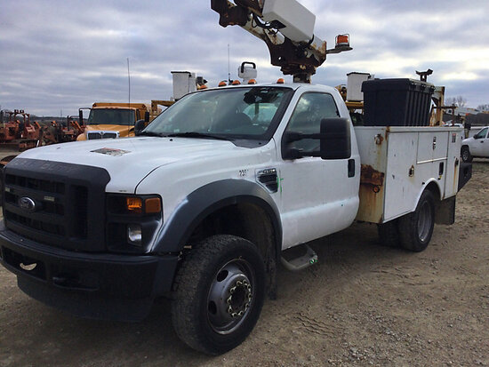 Altec AT200-A, Telescopic Non-Insulated Bucket Truck mounted behind cab on 2009 Ford F450 Service Tr