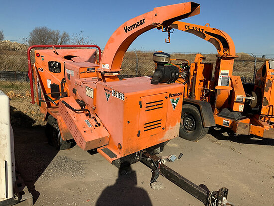 "2011 Vermeer BC1000XL Chipper (12"" Drum) Not Running, Bad Tire, Condition Unknown"